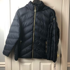 Michael Kors Packable Puffer Coat Navy 2X